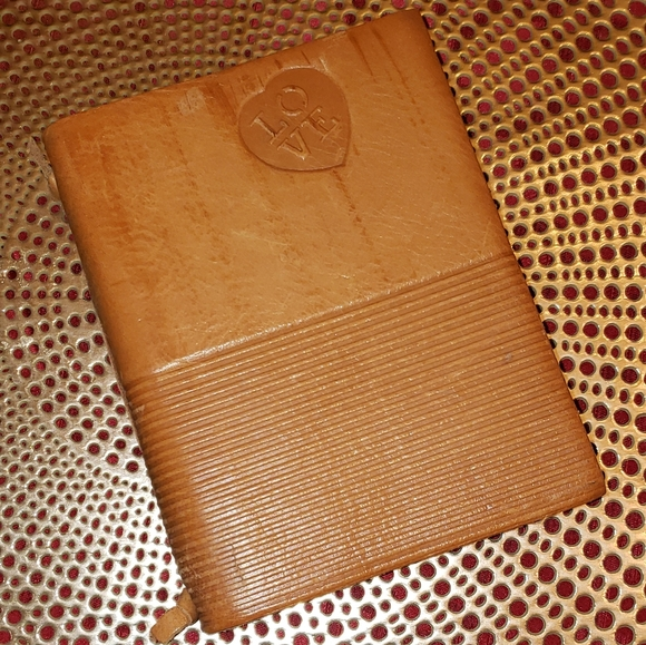 italian Other - LOVE notebook. Genuine Italian leather cover.